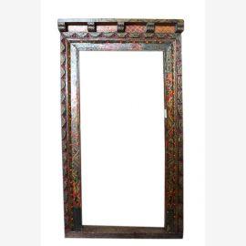 Tibet Rahmen antikes Holz  mit schöner Bemalung Schitzerei