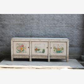 chinesisches Sideboard aus China in Naturholz elfenbein