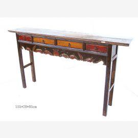 Chinesisches Tischchen aus hochwertigem Holz mit feinen Drechslerarbeiten