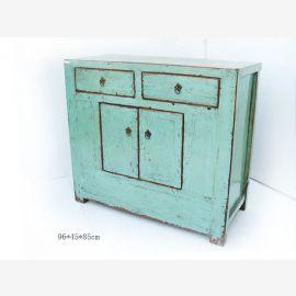 Lowboard aus robustem Holz aus China mit farblichem Kontrast
