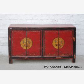 Aus tadelosem Holz gefertigtes Sideboard aus China in traditonellem Farbkonzept