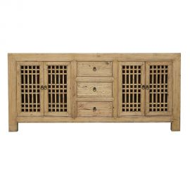 Chinesisches Echtholzsideboard mit Schubladen und Einsätzen