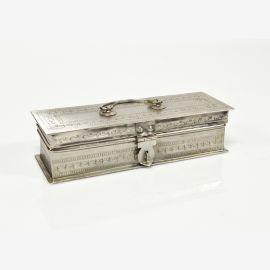 Indien Truhe Silber Schmuck Schreibtisch Schatulle