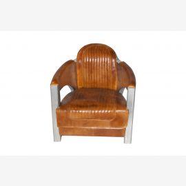 NEU aircraft möbel Aluminium Leder revolving chair Sessel.