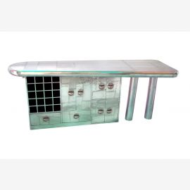 Hausbar  Theke mit hochwertiger Aluminiumverkleidung