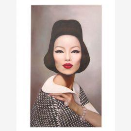 China Vogue Global fashion Mode Original Ölgemälde auf Leinwand Porträt