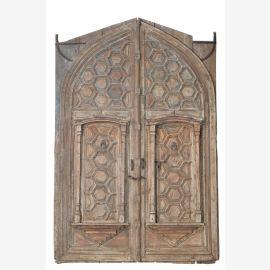 Indische Doppeltür Tor mit Rahmen aus Rajasthan aus dem Jahr 1850