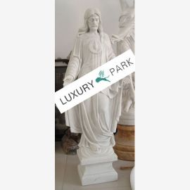 Klassische Skulptur Jesus Christus schneeweißer Marmor Barock