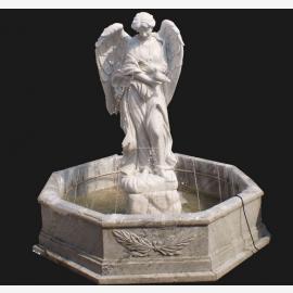 Engel Skulptur großer Brunnen für Park weißer Marmor Klassizismus