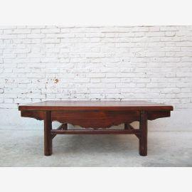 China Shanxi 1890 Traditionell flacher Couchtisch Tisch Ulme massiv D SD.D.32.2