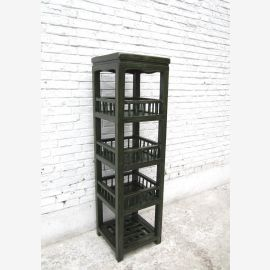 China-Blumen-Turm dunkles Holz Highboard  Badregal