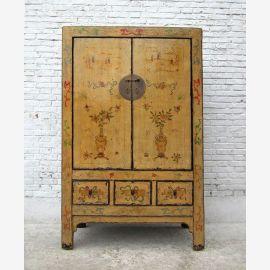 CHINA Shanxi  gemalt herrlicher großer Schrank Ulmenholz