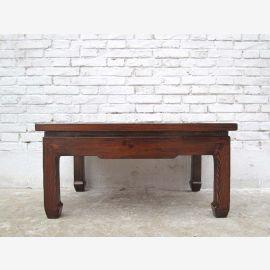 China 1880 antik Tisch Podest massives Pinienholz
