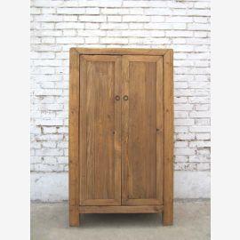 China Landhaus Stil kleine halbhohe Kommode Anrichte Doppeltüren Pinienholz