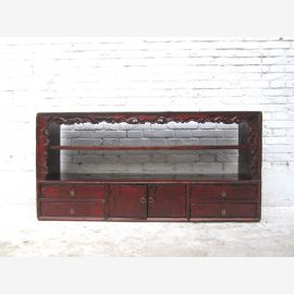 China shabby chic breite Kommode Regal Anrichte Sideboard Pinie antik