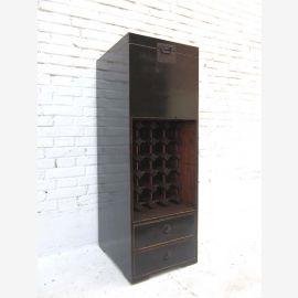 China schlanke Kommode Barschrank Anrichte schwarz glänzend lackiert