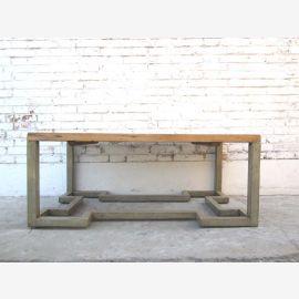 China Klassisch flacher Tisch mit Dekorsockel helles Pinienholz von Luxury-Park