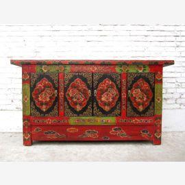 China Tibet 1930 breite Kommode Kredenz Anrichte im traditionell bäuerlich rustikalen Stil von Luxury-Park