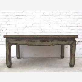 China shabby chic Klassischer Tisch einfache Form hellgrau lackiertes Pinienholz Gebrauchsspuren von Luxury-Park
