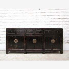 China Sideboard Massivholz Schwarz