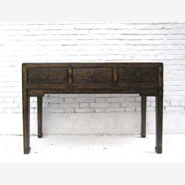 China Beijing  klassischer Schreibtisch hochbeinige Anrichte Pinienholz von Luxury Park