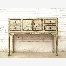 China Schreibtisch Flurkommode Telefontisch shabby chic antikweiß