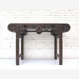 China Garderobe Kredenz Beistelltisch klassische Schnitzarbeit aus Ulmenholz im kolonialen Stil von Luxury-Park