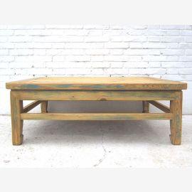 Asien Couchtisch rustikaler Tisch helles Pinienholz