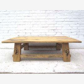 Asien flacher rustikaler Tisch Pinie Naturholz