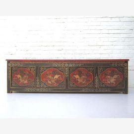 China antik um 1930 Sitzbank Lowboard flache Anrichte Truhe ideal für Flachbildschirm Pinienholz von Luxury Park
