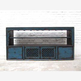 Mongolei Lowboard Anrichte für Flachbildschirm Schubladenleiste blaue Pinie shabby Stil von Luxury-Park