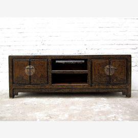China Lowboard Fernseh Tisch antikgrün Shabby chic Pinie