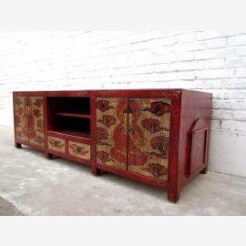 TV Lowboard Tibet antike Bemalung  von Luxury Park