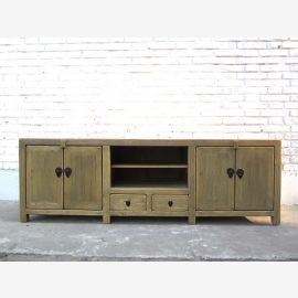 China graues Natur TV Lowboard Sideboard by Luxury Park