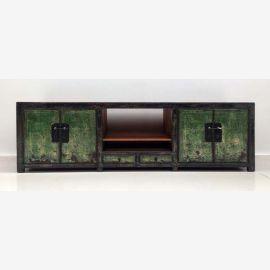 Edles chinesiches Lowboard mit grünen Elementen