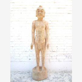 China 1950 Akupunktur Lehrmodell Skulptur lebensgroßer männlicher Körper Statue Medizin Luxury-Park