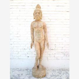 CHINA 1930 Medizin Frauenkörper Akupunktur Ausbildung großes Lehrmodell des Körpers Holz von Luxury-Park