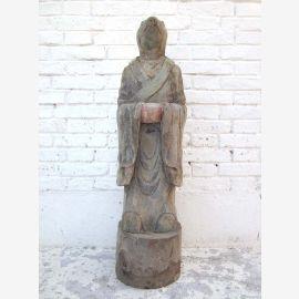 Skulptur Ratte China astrologische Figur Statue buddhistisch Pappel 80 Jahre alt von Luxury Park