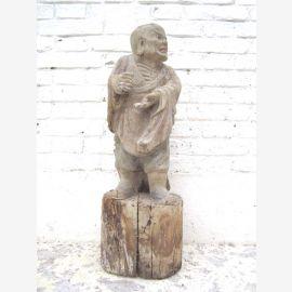 Tempel Skulptur Der Streitende Standfigur buddhistisch Pappelholz China 1920 von Luxury Park