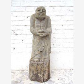 Moench in Meditation stehend Statue Figur Skulptur Pappelholz China 1910 von Luxury Park