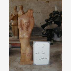 Torso Akt Skulptur stehend bräunlich Marmor klassische Moderne