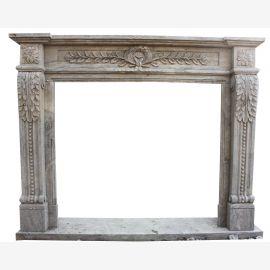 Klassicher Florence Marmor Kamin Antik-Finish