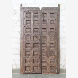 Indien massive Tür antik Teak