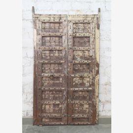 Indien massive Tür antik Teak VI-ED-017