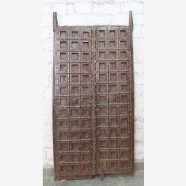 Indien massive Tür antik Teak VI-ED-022