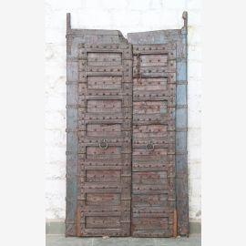 Indien massive Tür antik Teak VI-ED-025