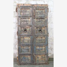 Indien massive Tür antik Teak VI-ED-026