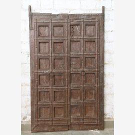 Indien massive Tür antik Teak VI-ED-031