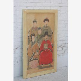 China großes Wandbild Porträt Familie Pinie