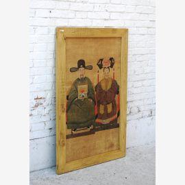 China großes Wandbild Porträt Brautpaar Pinie